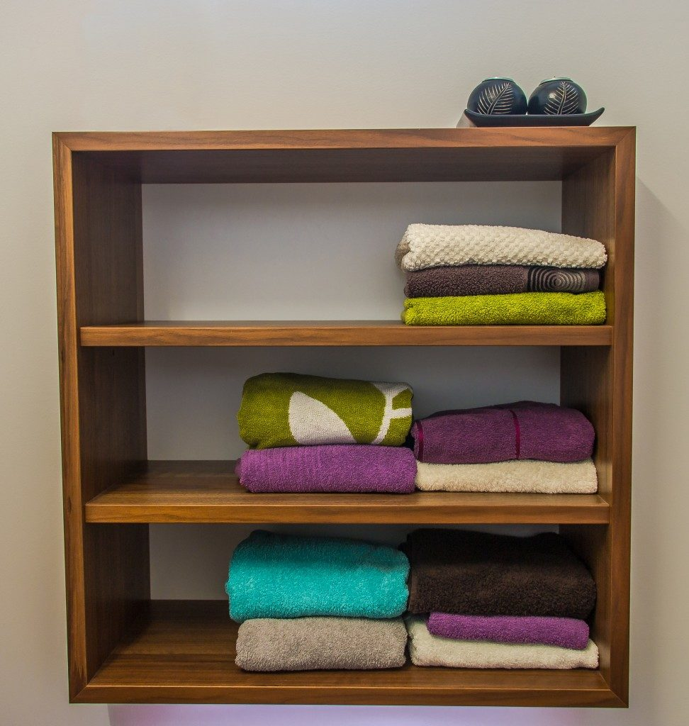 and organized shelf
