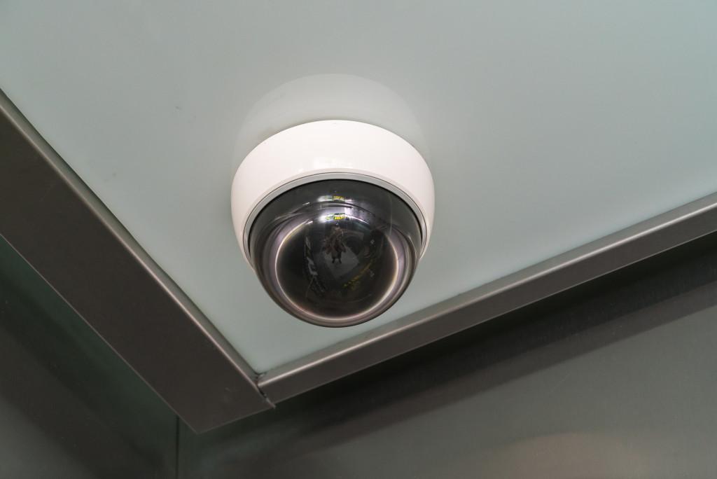 installed cctv camera